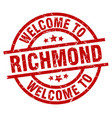 welcome to richmond red stamp vector image vector image
