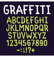 Hand drawn graffiti letters set vector image