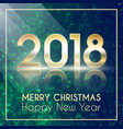 2018 happy new year glitter shining pattern vector image vector image