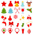 25 colorful cartoon christmas elements vector image vector image
