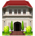 A big old building vector image vector image