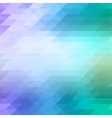 Abstract mosaic background of colored triangles in vector image vector image