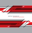 abstract red grey polygon geometric on white vector image