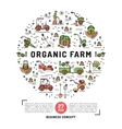 Agriculture and organic farm fresh design card vector image vector image