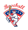 American Baseball Player Batting Cartoon vector image vector image