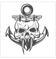 Anchor and skull vector image vector image