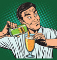 avatar portrait bartender pouring beer vector image vector image