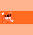 black friday sale shop now banner with text space vector image