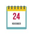 Calendar november 24 icon vector image vector image