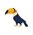 cartoon character of toucan tropical bird with vector image vector image