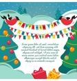 Christmas card with a birds vector image