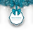 Christmas Greeting Card with Bow Ribbon vector image vector image
