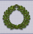 christmas new year green branch of spruce in the vector image