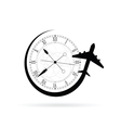 clock antique with airplane vector image vector image