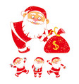 collection of stickers with christmas santa claus vector image vector image