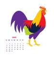 Colorful 2017 New Year greeting card with rooster vector image