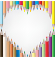coloured pencil set vector image vector image
