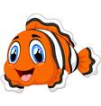 Cute clown fish cartoon posing vector image