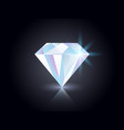 diamond on dark background shining gemstone vector image