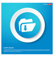 download folder icon abstract blue web sticker vector image