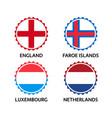 english faroe islands luxembourgish stickers vector image vector image