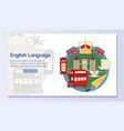 english language banner web design vector image vector image