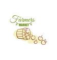 farmers market badge design vector image vector image