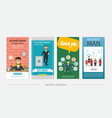 flat businessman colorful vertical banners vector image vector image