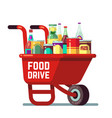 food drive bank thanksgiving and christmas holiday vector image