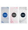 halftone spiral banners set design vector image