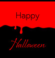 happy halloween blood background vector image vector image