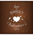 holiday with hearts and arrow on wood background vector image vector image