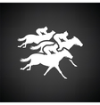 Horse ride icon vector image vector image