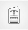 invitation card icon sign symbol vector image vector image