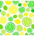 lemons limes background painted pattern vector image vector image