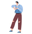 male character showing love gesture with hands vector image