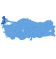 Map of Turkey Edirne vector image vector image