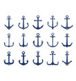 marine anchor icons designs of navy symbols vector image