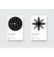 Minimal Black and White Graphic Trendy Vertical vector image
