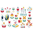 nature set in modern style abstract geometric vector image vector image