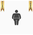 Overweight man symbol vector image