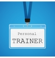 personal trainer vector image
