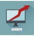 progress business growth arrow icon vector image vector image