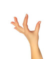 realistic 3d silhouette of hand showing the size vector image vector image