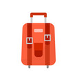 red wheeled travel bag with luggage vector image