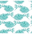 Seamless pattern with chrysanthemum flower vector image