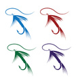 set of Fly fishing lure vector image