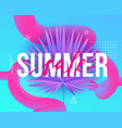 summer sale trendy modern background with liquid vector image vector image