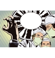 The doctors in the operating room vector image