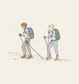 travelling tourism mountaineering activity vector image